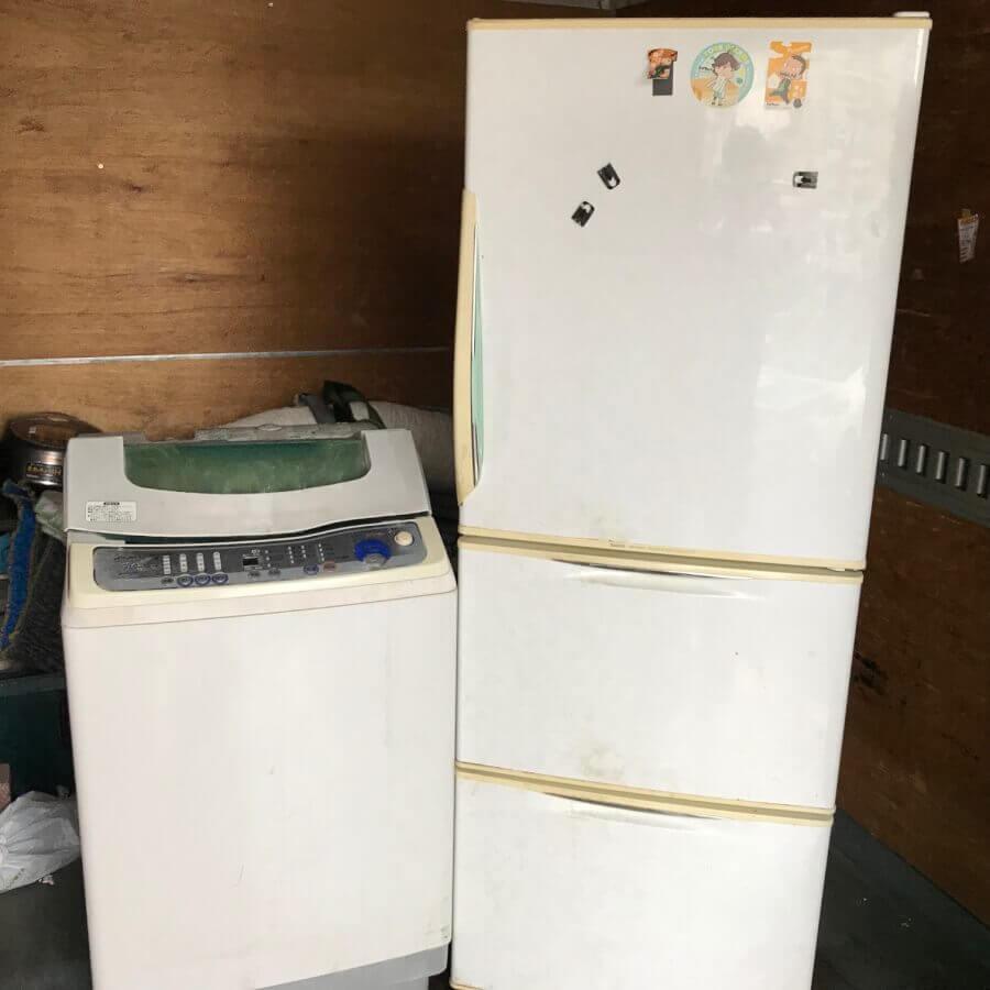 蕨市内で古い冷蔵庫と洗濯機の家電リサイクル処分のご依頼のイメージ画像